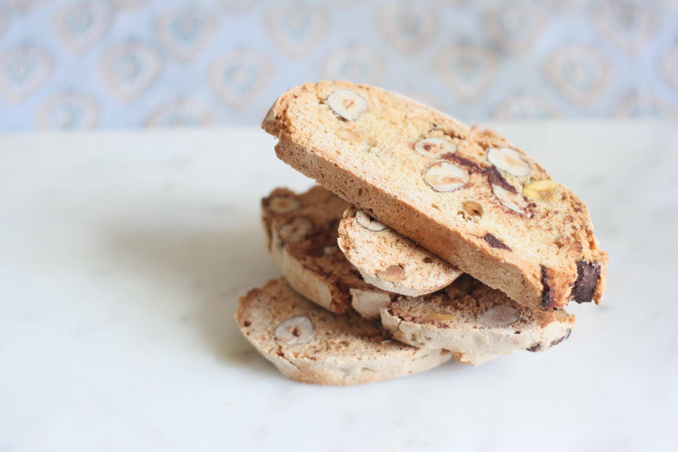 Almond, Pistachio and Hazelnut Biscotti