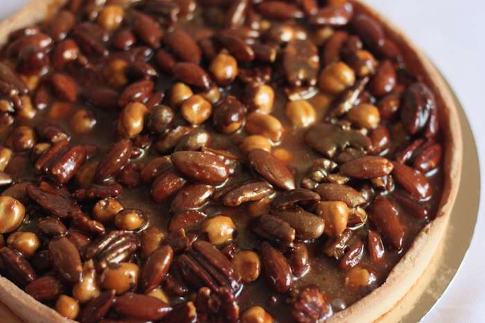 Caramelised Nut Tart